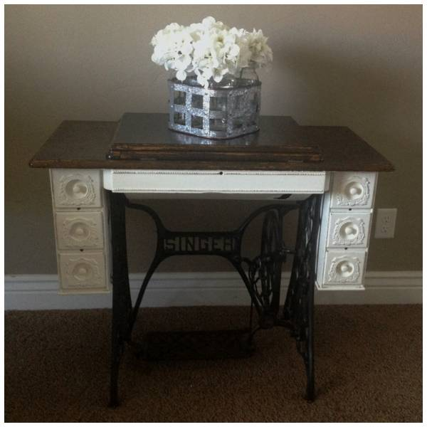 Antique Sewing Cabinet Makeover – Home and Garden