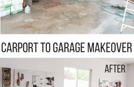 Amazing Carport to Garage Makeover