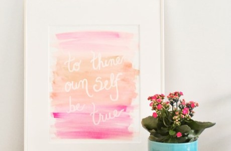 DIY Watercolor Artwork