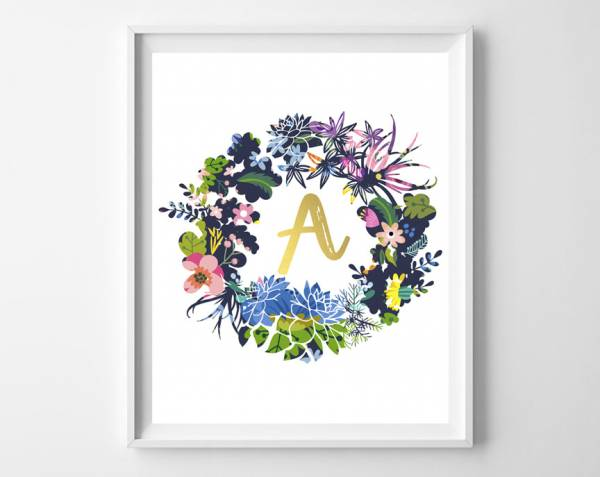 Luxury I love this floral wreath printable Initial and guess what All Letters are available FREE to download and print The pretty wreath and gold initial