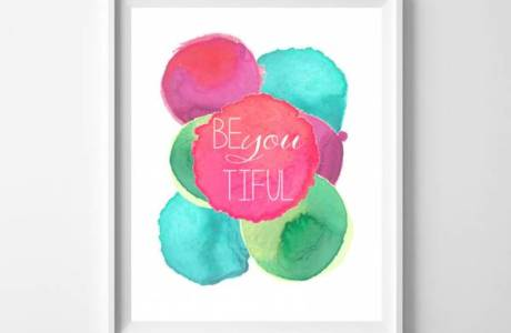 Printable Wall Art – Be BeYOUtiful