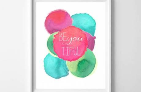 Printable Wall Art – Be BeYOUtiful