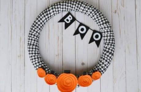 5 Little Pumpkins Halloween Fall Wreath