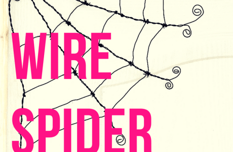 Halloween Wire Spider Web Wall Art