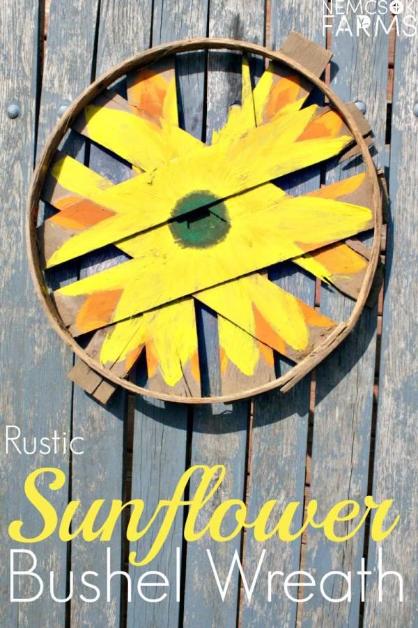 Bushel Sunflower Wreath Tutorial