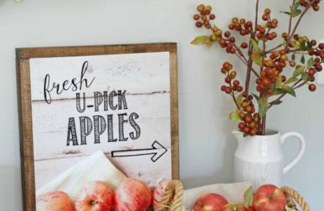 Free Printable – You Pick Apples Wall Art