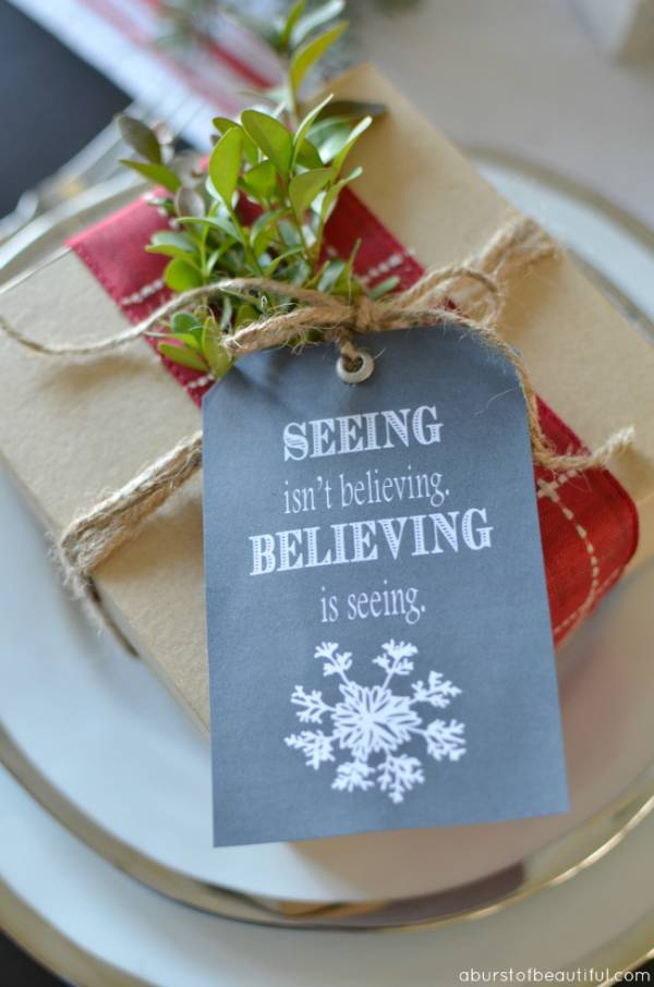 Christmas Gift Wrapping Ideas – Seeing Isn't Believing Chalk Gift Tags
