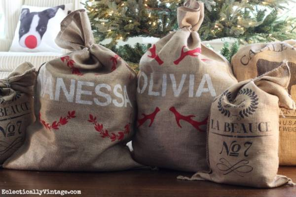 How To Make Personalized Santa Sacks