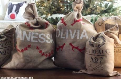 How To Make Personalized Santa Sacks