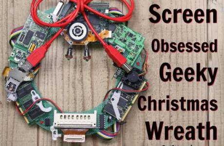 Screen Obsessed Geeky Christmas Wreath