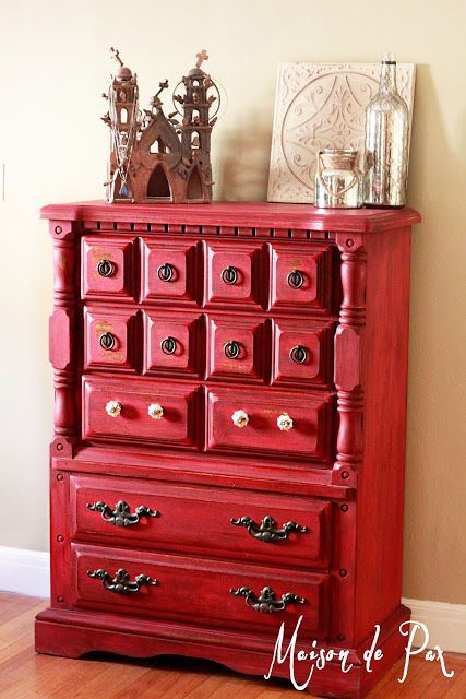 DIY Red Dresser To Die For