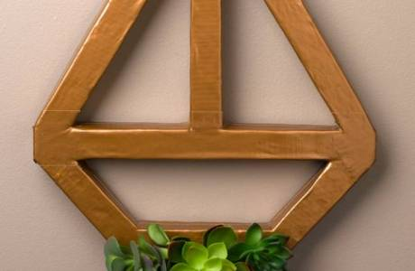 DIY Geometric Succulent Wreath