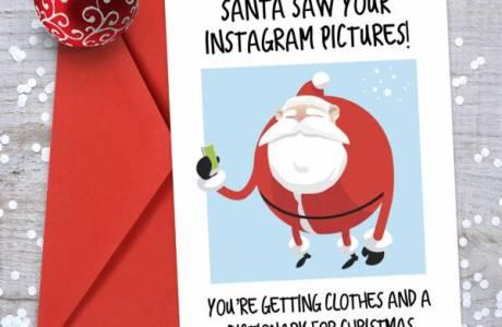 Free Printable – Funny Santa Christmas Card