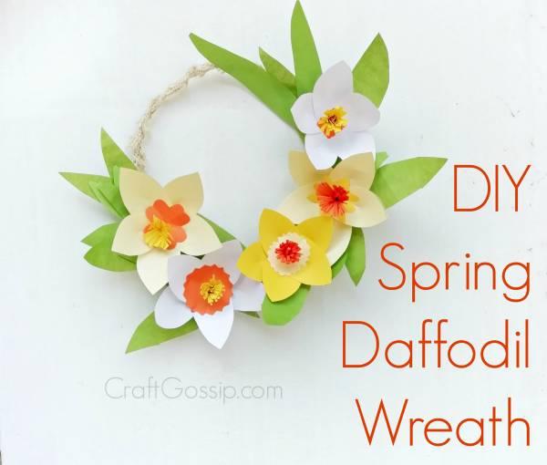 diy spring daffodil wreath  u2013 home and garden