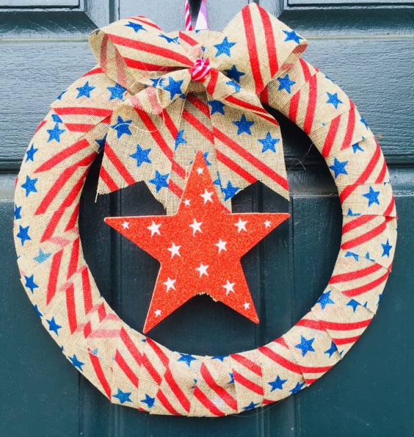 Dollar Tree Simple Patriotic Wreath Home And Garden