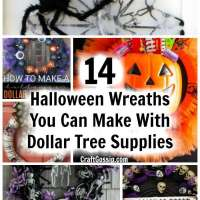 14 Halloween Wreaths You Can Make With Dollar Tree Supplies