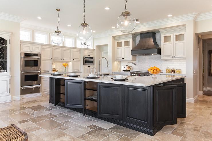Kitchen White Travertine Tile Novocom Top