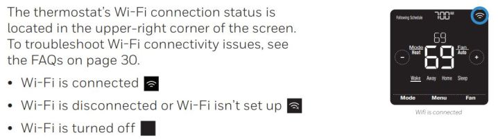 Wi-Fi connection status