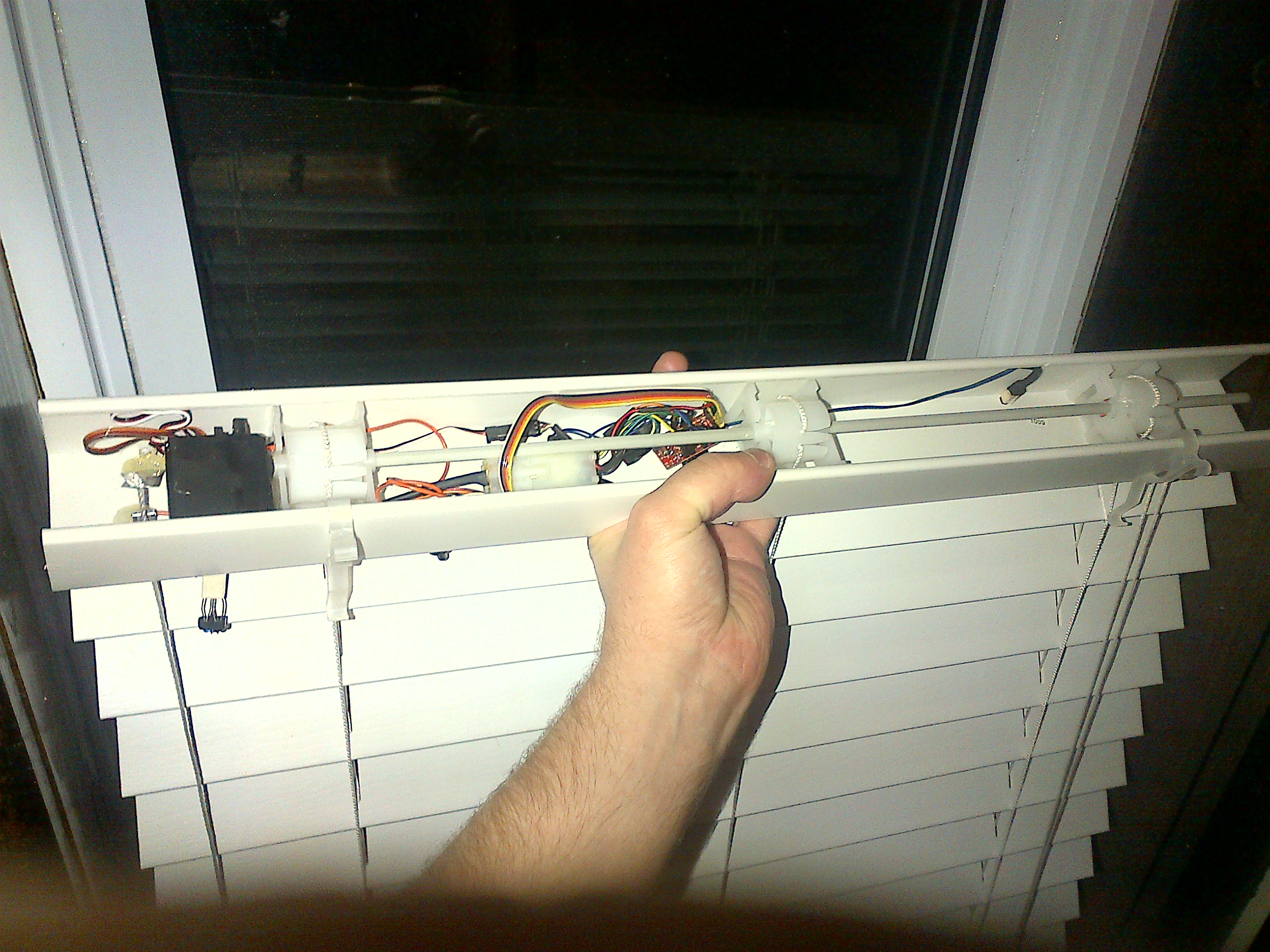 automated window blinds with arduino home awesomation On motorized window shades diy