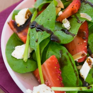 Strawberry Feta Spinach Salad