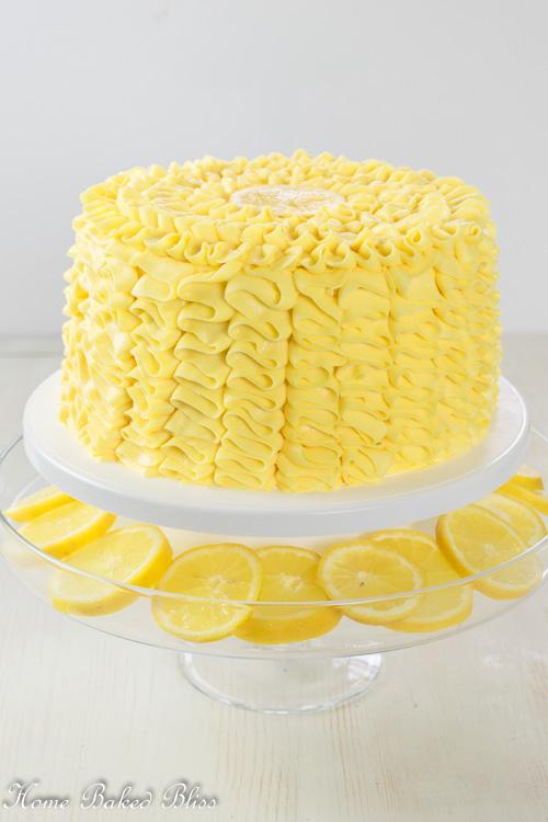 Lemon Ruffle Cake