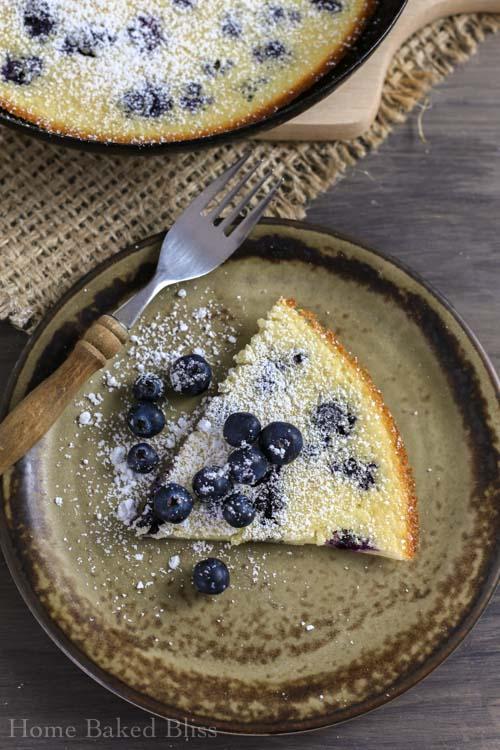 blueberry clafoutis, clafoutis, French dessert, easy dessert, dessert, blueberry recipe, 10 minute dessert