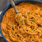 Roasted Red Pepper Pasta {Vegan}