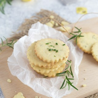 Crispy Rosemary Lemon Cookies that are perfect for tea time or a coffee break.