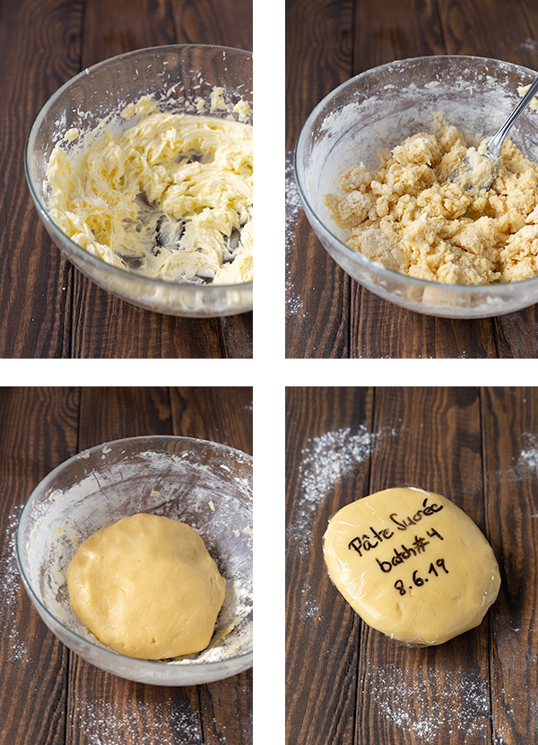 Step by step instructions for how to make sweet tart dough (pâte sucrée).