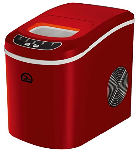 Igloo Countertop Compact 26 lb. Portable Freestanding Ice Maker, Red (Certified Refurbished)