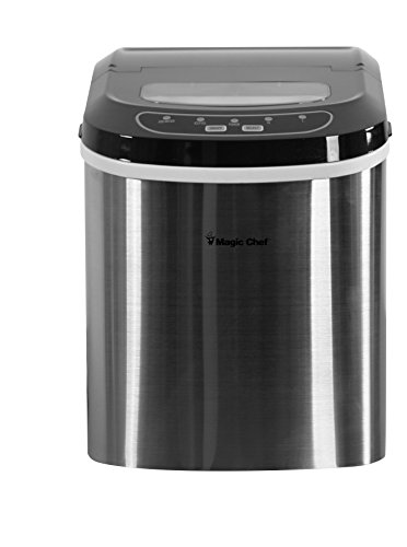 #1 Best - Magic Chef MCIM22ST 27 lb Ice Maker Stainless Steel