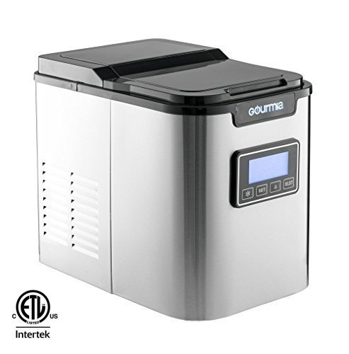 #4 - Gourmia GI500 Electric Compact Professional Stainless Steel Ice Maker