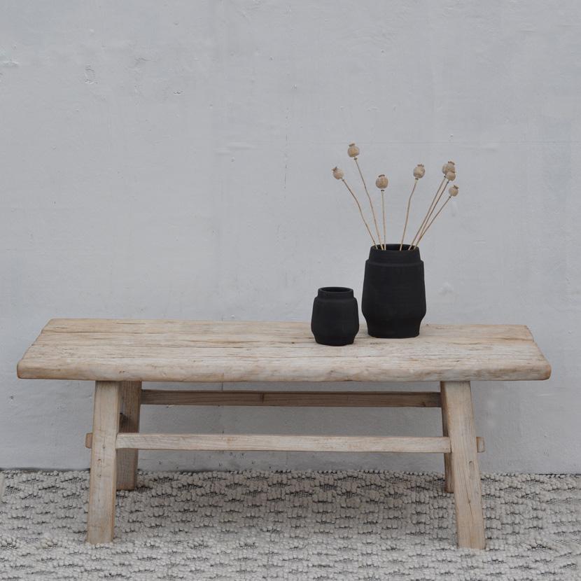 reclaimed elm wood coffee table home