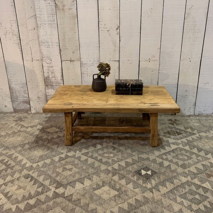 small rustic timber coffee table