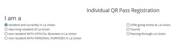 NAPANAM QR Code Individual Registration Options