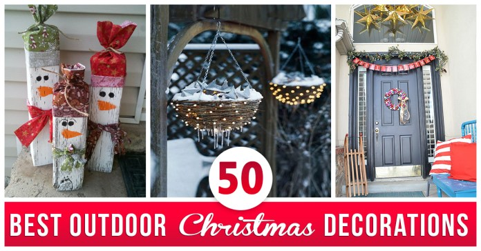 50 Best Outdoor Christmas Decorations For 2021