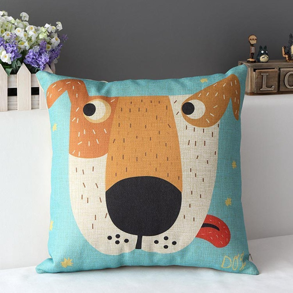 40 of the Best Throw Pillows to Buy in 2018 DuoLe s Big Dog Cartoon Sofa Pillows for Indoors
