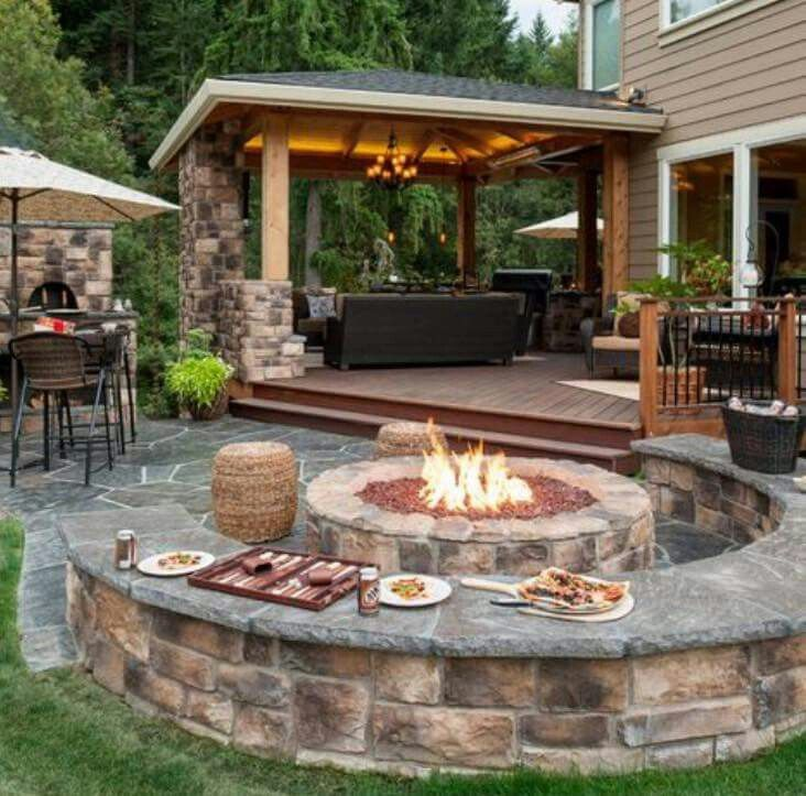 50 Best Outdoor Fire Pit Design Ideas for 2019 on Small Outdoor Fireplace Ideas id=43321