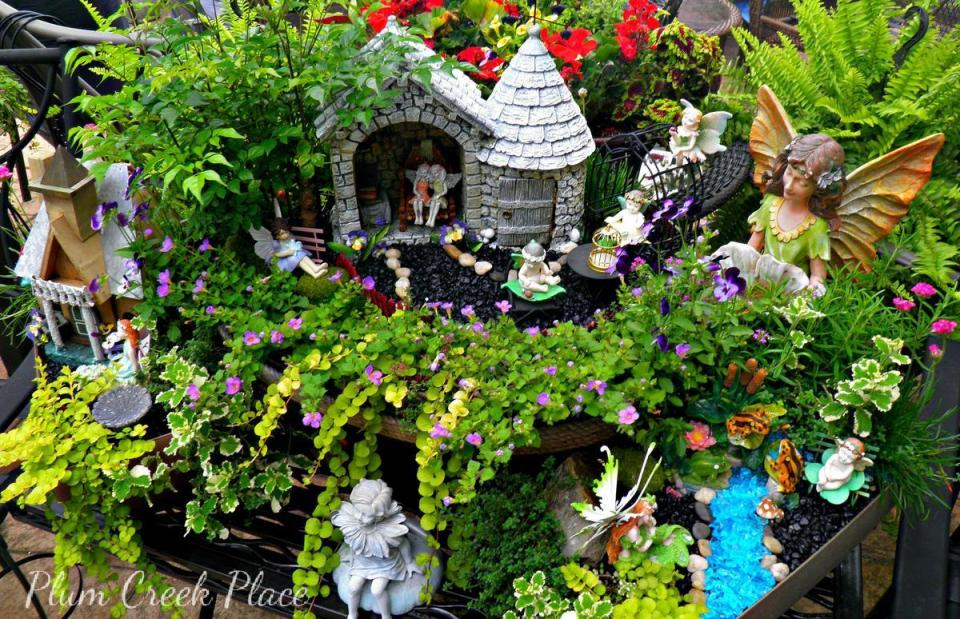 Fairy Garden Ideas: Stream of dreams diy mini garden