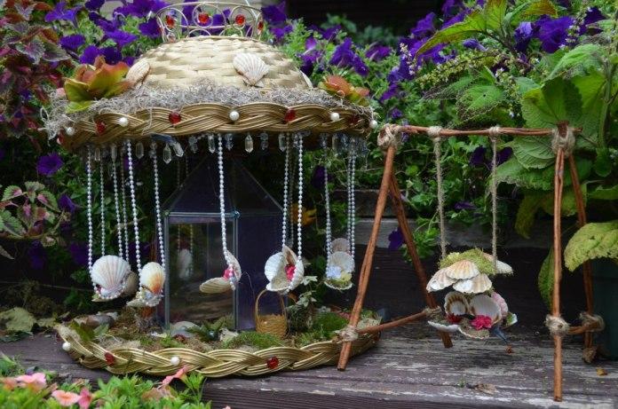 Fairy Garden Ideas: A pearly delight diy fairy garden