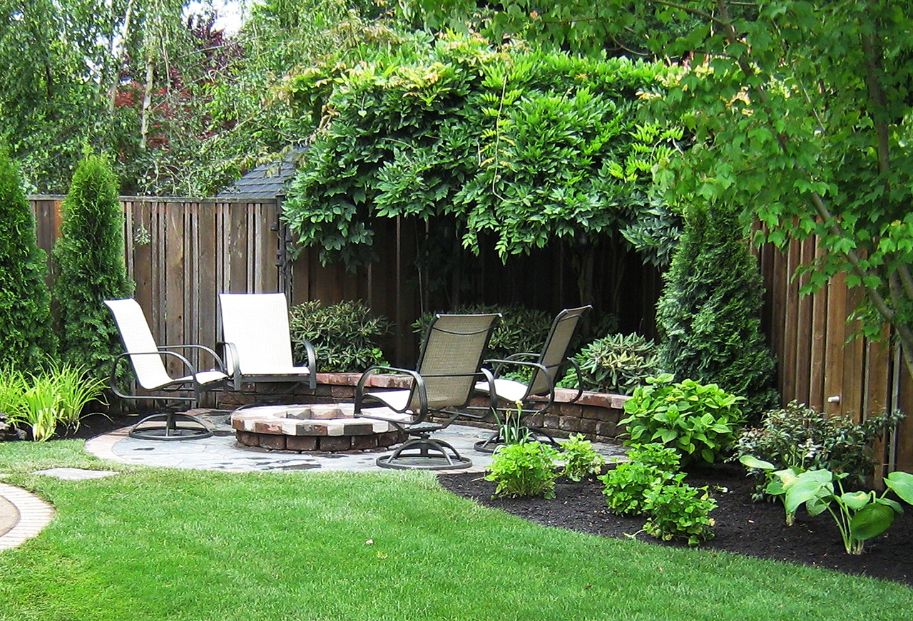 50 Backyard Landscaping Ideas that Will Make You Feel at ... on Back Garden Patio Ideas  id=91230