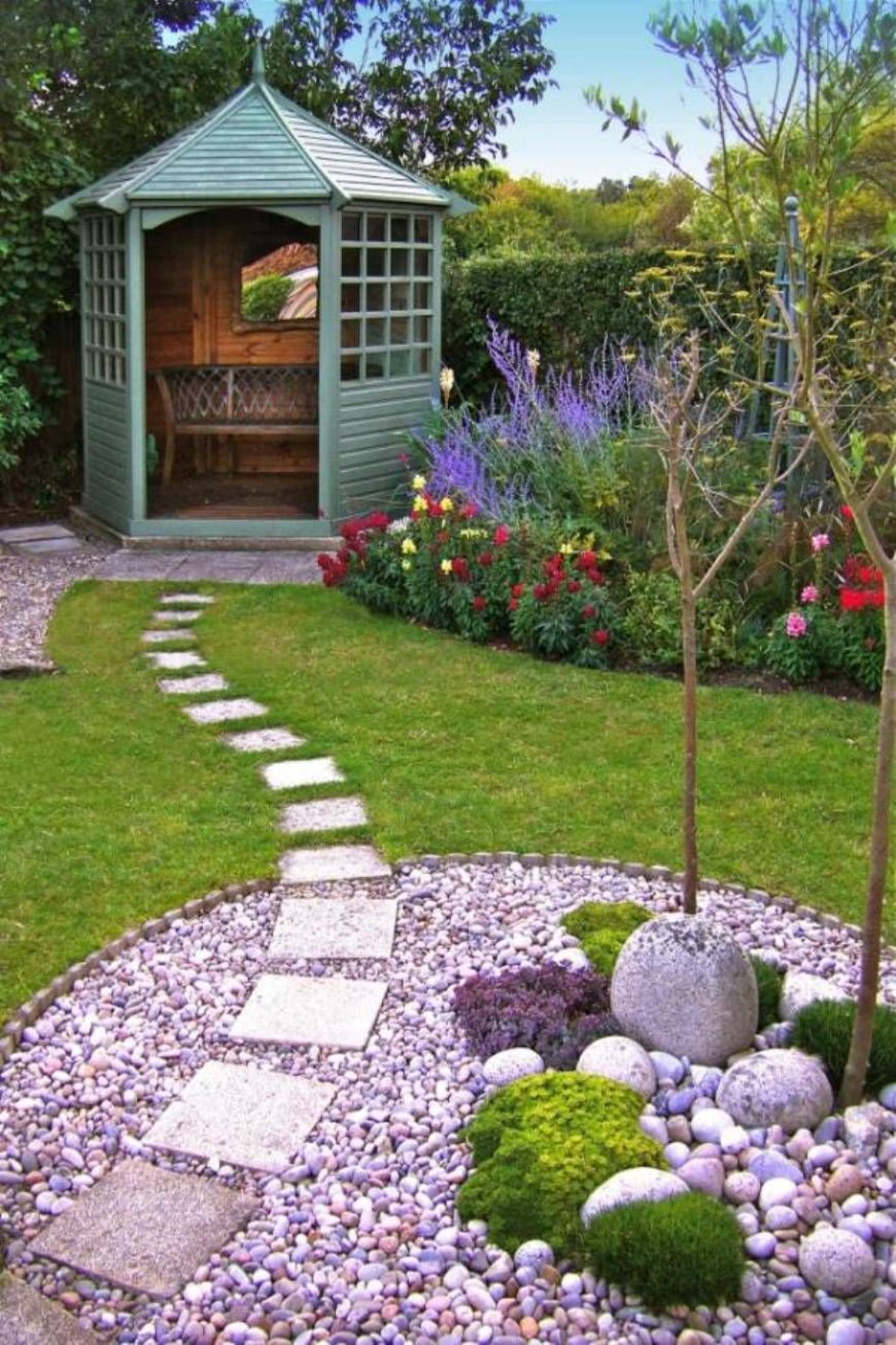 30 Best Decorative Stepping Stones (Ideas and Designs) 2020 on Stepping Stone Patio Ideas  id=82587