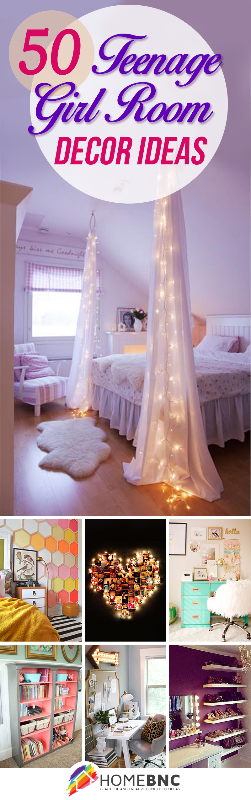 50 Stunning Ideas for a Teen Girl's Bedroom for 2016 on Room Design For Girls Teenagers  id=70220