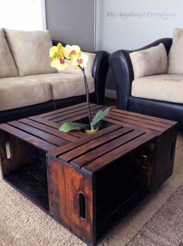 Upcycled Elegance DIY Coffee Table