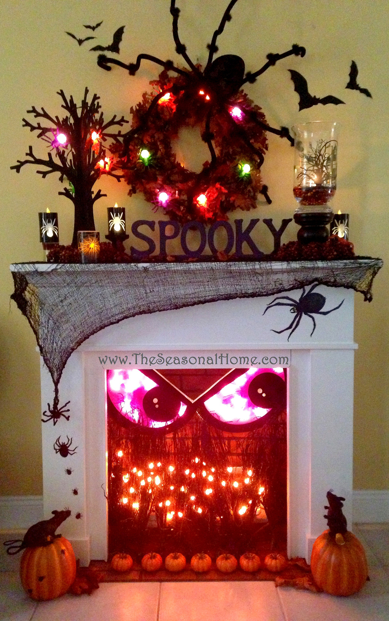 50 Best Indoor Halloween Decoration Ideas for 2018 1  Spooky Fireplace Crackles with Fun
