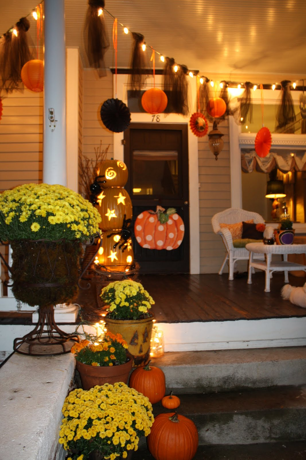 50 Chilling and Thrilling Halloween Porch Decorations for 2019 on Patio Decorating Ideas With Lights  id=14030