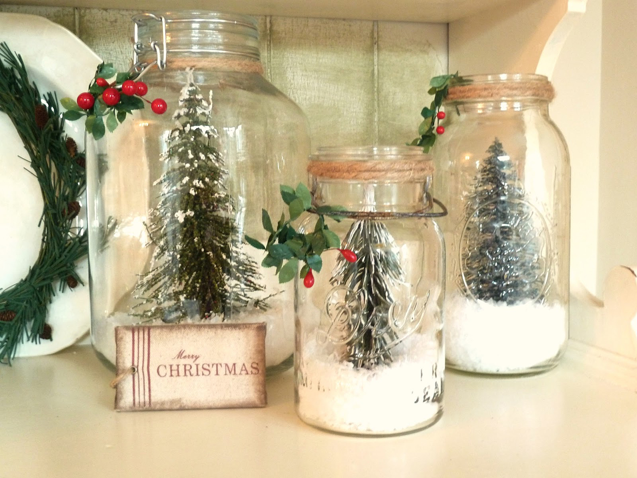 50 Best Indoor Decoration Ideas for Christmas in 2018 DIY Christmas Snow Globes