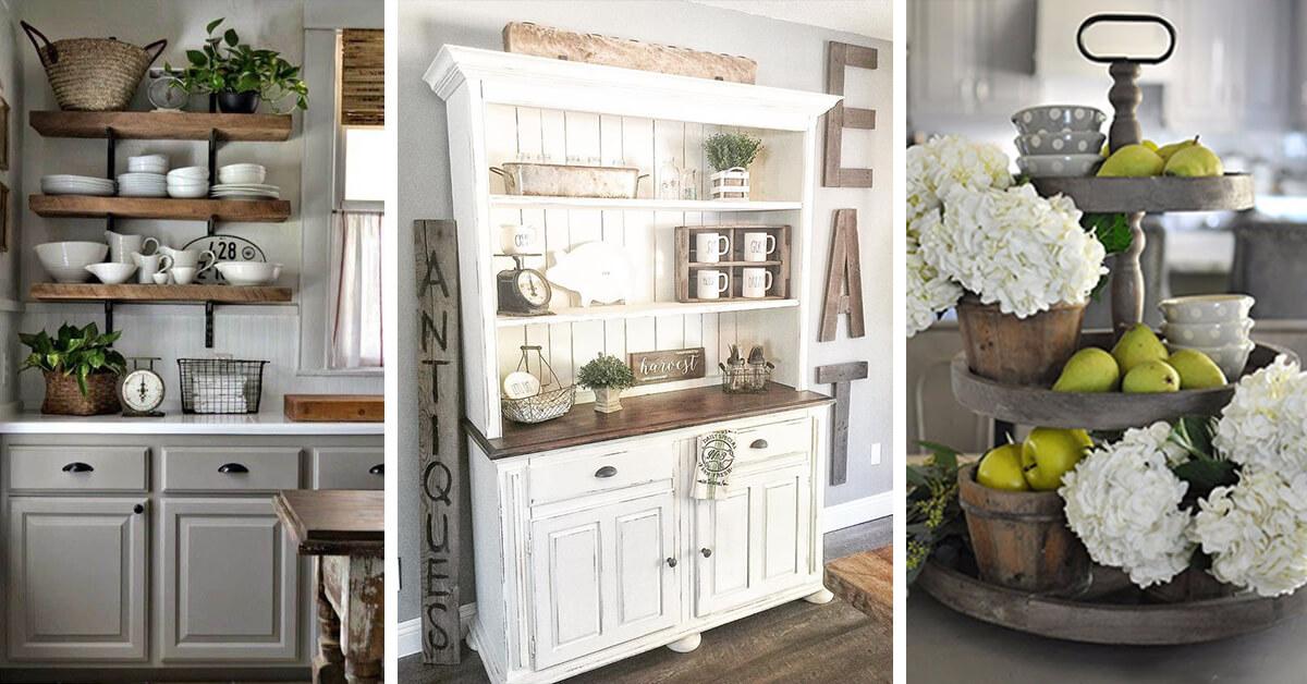 50+ Best Farmhouse Kitchen Decor and Design Ideas for 2020 on Farmhouse Kitchen Counter Decor Ideas  id=35422