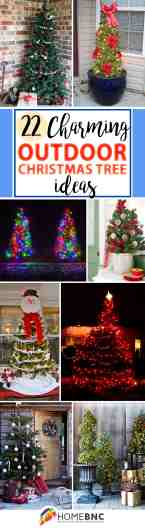 22 Best Outdoor Christmas Tree Decorations And Designs For 2020