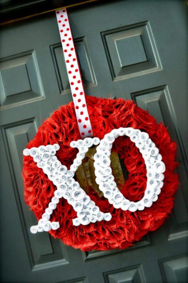 valentine wreath craft idea for valentines day - 531×800